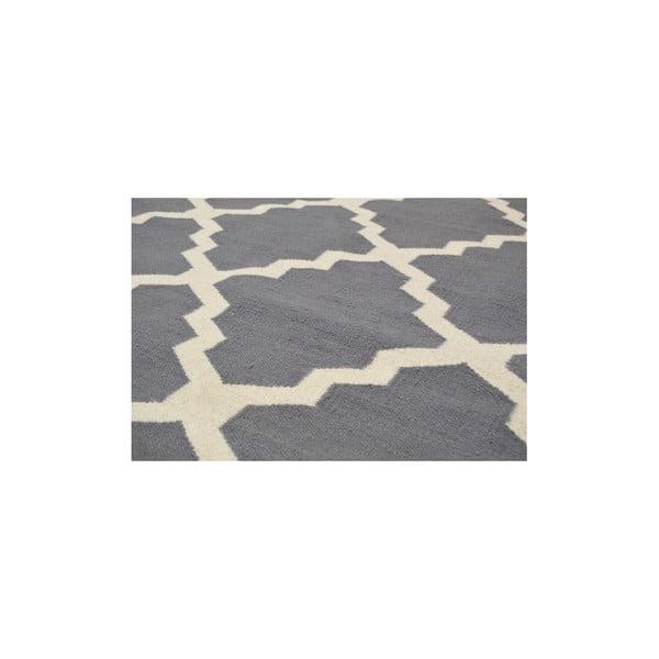 Vlnený koberec Kilim Jasmina Grey, 160x230 cm