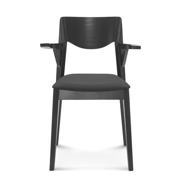 Čierna drevená stolička Fameg Ingred