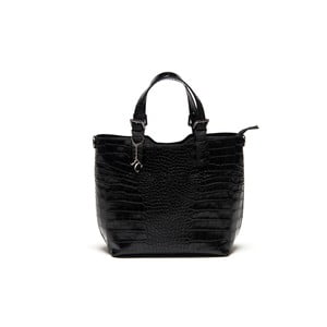 Čierna kožená kabelka Renata Corsi 635