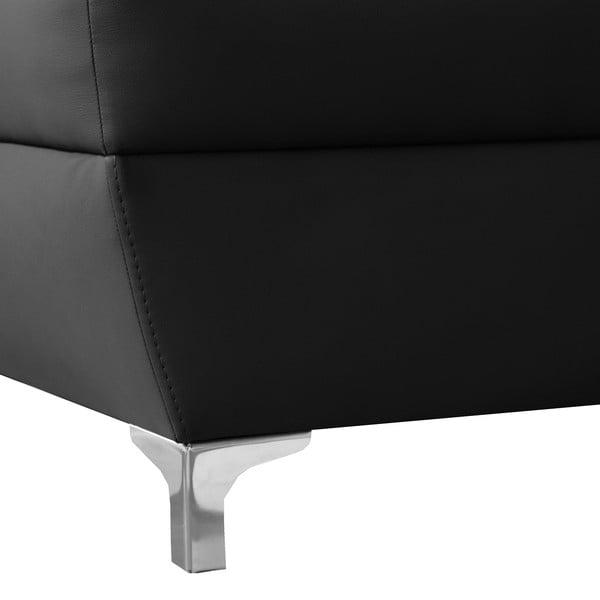 Čierna pohovka Modernist Cardigan, ľavý roh