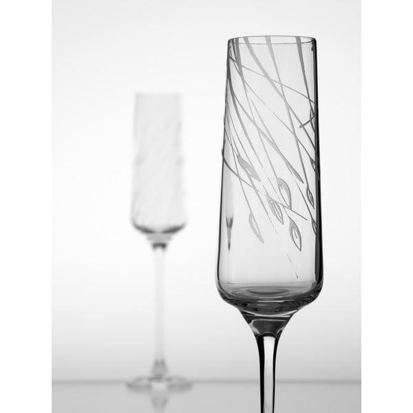 Ateliér Žampach, set 2 ks pohárov na šampanské Áron