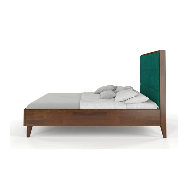 Dvojlôžková posteľ z masívneho borovicového dreva SKANDICA Frida Dark, 160 x 200 cm