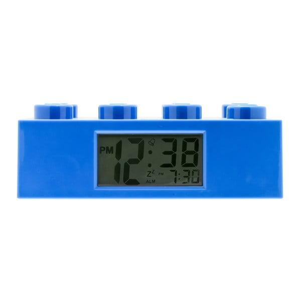 Modré hodiny s budíkom LEGO® Brick