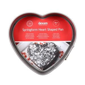 Forma na pečenie torty v tvare srdca s nepriľnavým povrchom Dexam Heart, ø 28 cm