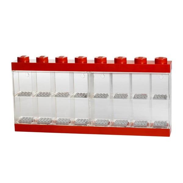 Červená zberateľská skrinka na 16 minifigúrok LEGO®, červená
