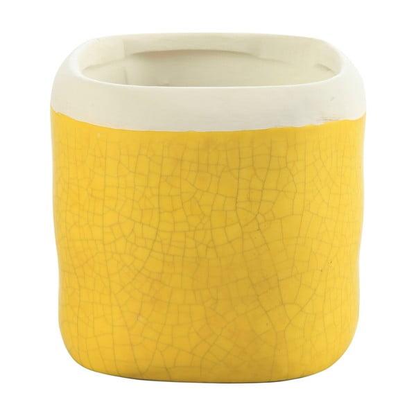Kvetináč Earth 17 cm, žltý