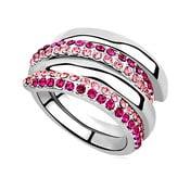 Prsteň s krištáľmi Swarovski Elements Crystals Aline