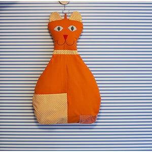 Závesná taška Mačička, oranžová