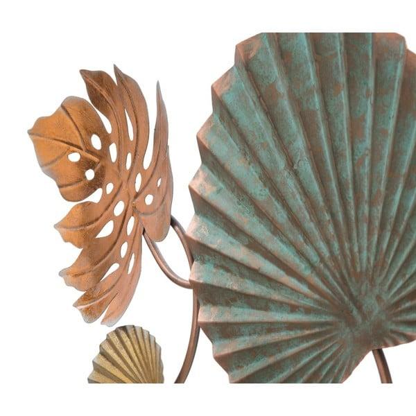 Železná nástenná dekorácia s motívmi listov Mauro Ferretti Lop, šírka 117,5 cm