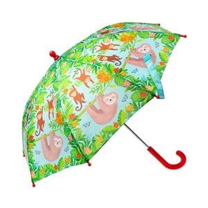 Zelený dáždnik s motívom leňochoda Sass & Belle Boho