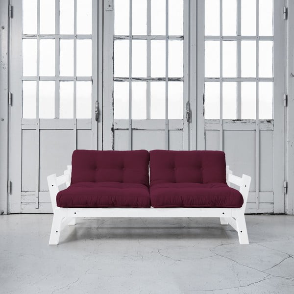 Rozkladacia pohovka Karup Step White/Light Bordeaux