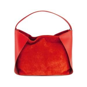 Kožená kabelka Duose Rosso