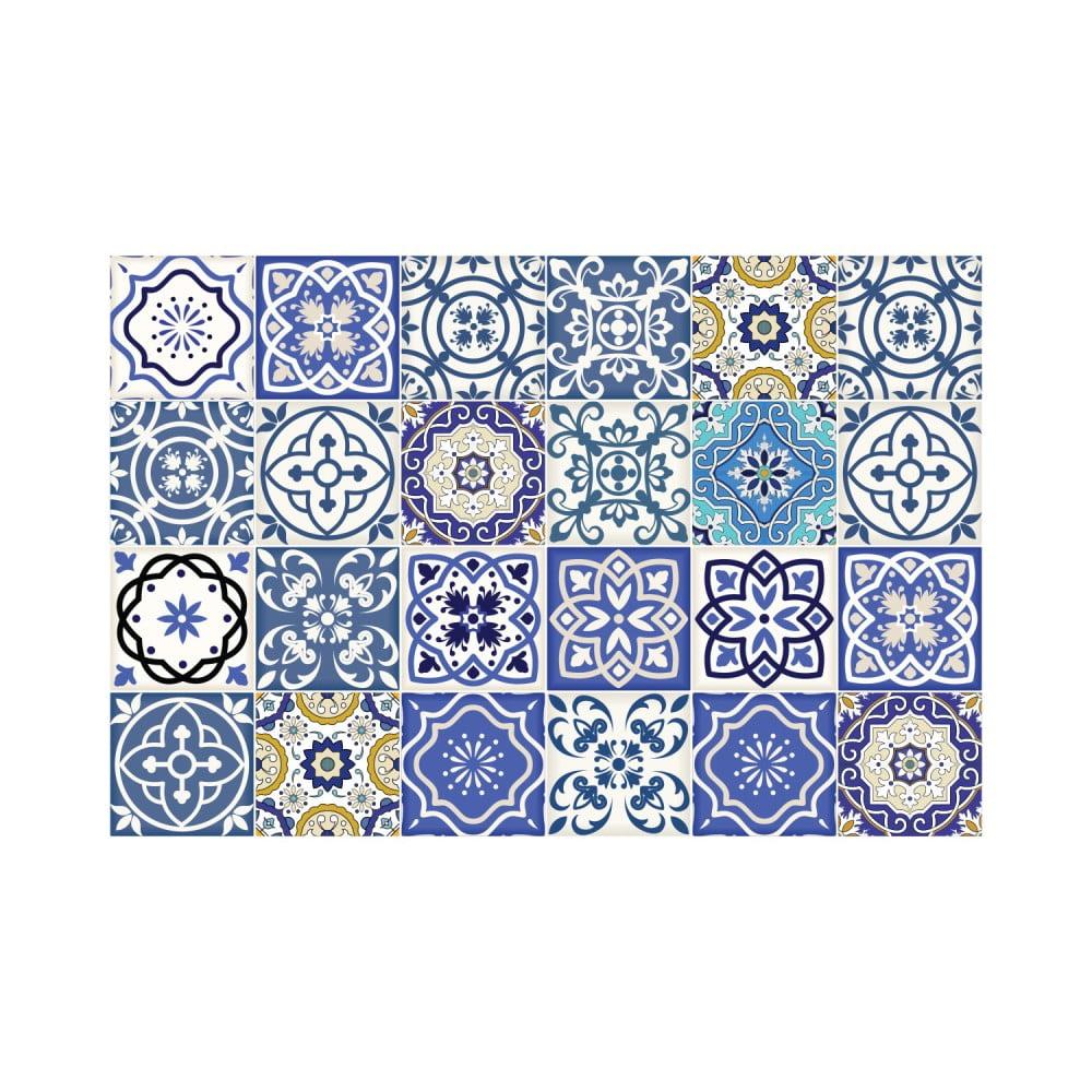 Sada 24 nástenných samolepiek Ambiance Wall Stickers Tiles Flamenco, 10 × 10 cm