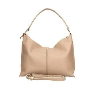 Ružová kožená kabelka Chicca Borse Hagoda