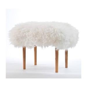 Stolička z ovčej kože Carys Ivory