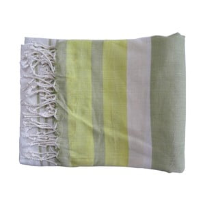 Limetkovozelená ručne tkaná osuška z prémiovej bavlny Rio, 100×180 cm