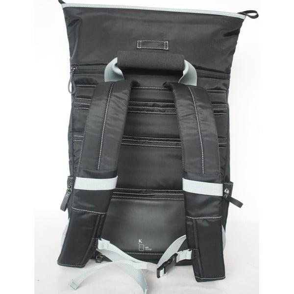 Veľký batoh na bicykel Tubí, čierna/sivá