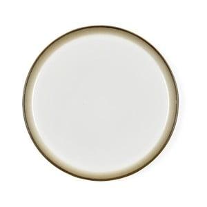 Krémovobiely kameninový plytký tanier Bitz Mensa, priemer 27 cm