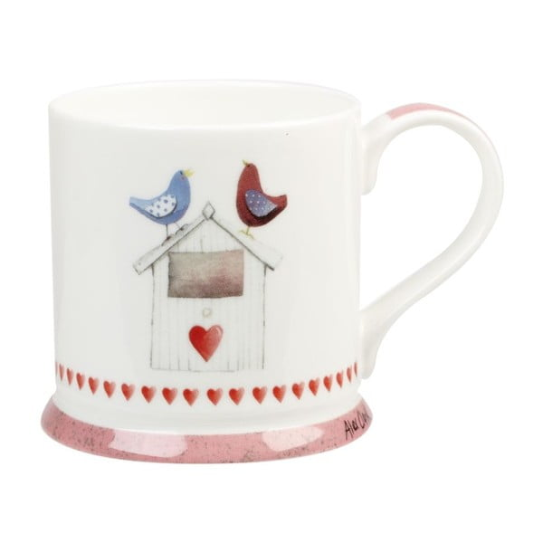 Sada 2 ks hrnků Churchill China Lovebirds, 255 ml