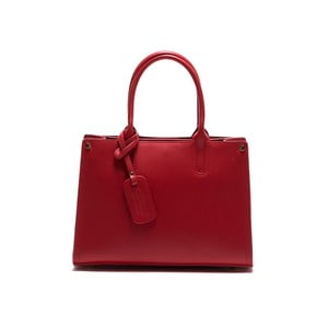 Kožená kabelka Anna Luchini 3042 Rosso