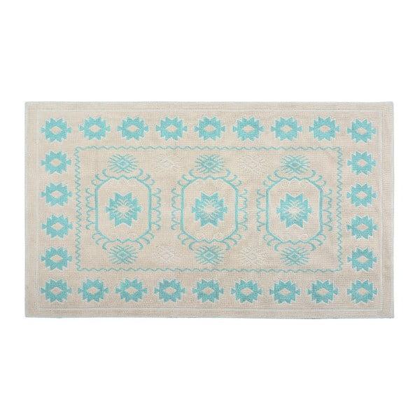 Bavlnený koberec Emily 60x90 cm, tyrkysový