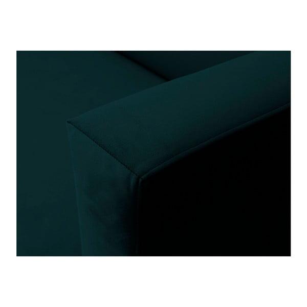 Petrolejovozelená zamatová trojmiestna pohovka Windsor & Co Sofas Neptune