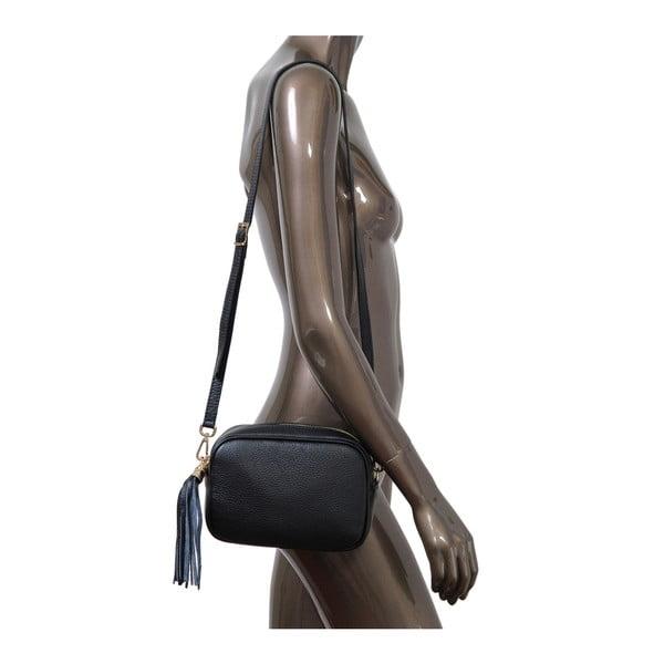 Čierna kabelka z pravej kože Andrea Cardone Pezzo
