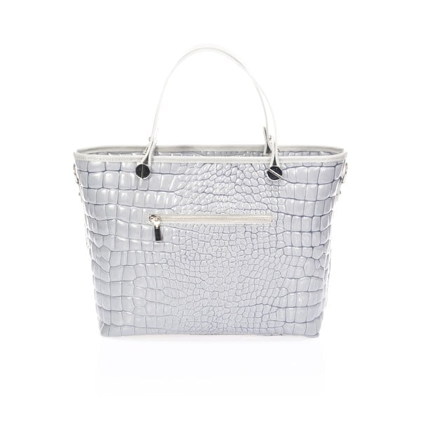 Kožená kabelka Kellie, sivá