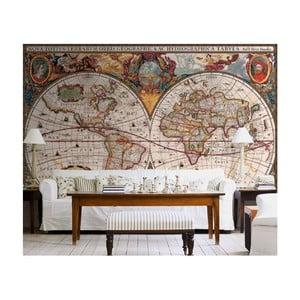 Veľkoformátová tapeta Antická mapa, 315x232 cm