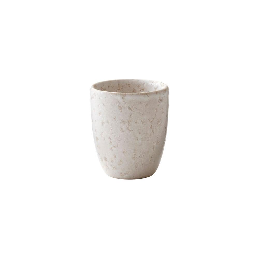 Krémovobiely kameninový hrnček na espresso Bitz Basics Matte Cream, 100 ml