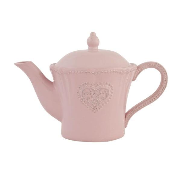 Keramická čajová kanvica Clayre Roses, 900 ml