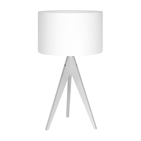 Biela stolová lampa 4room Artist, biela lakovaná breza, Ø 33 cm
