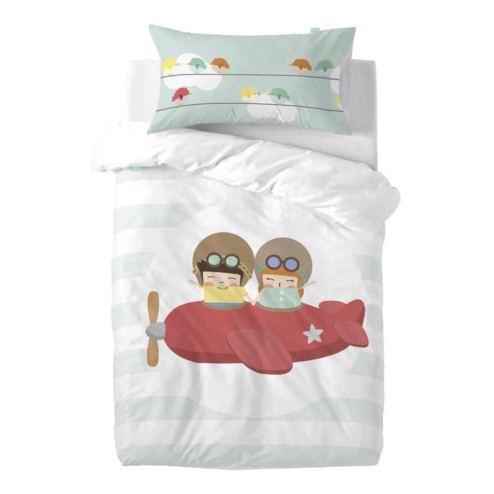 Detské obliečky z čistej bavlny Happynois Learning To Fly, 115 × 145 cm