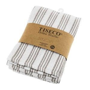 Sada 4 hnedých bavlnených utierok Tiseco Home Studio, 50 × 70 cm