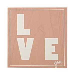 Obraz Love/Live, 30x30 cm