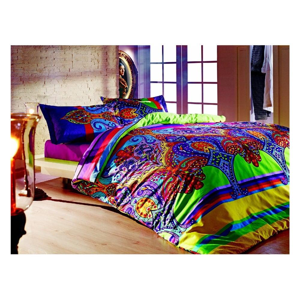 Bavlnené obliečky s plachtou na dvojlôžko Orient, 200 × 220 cm