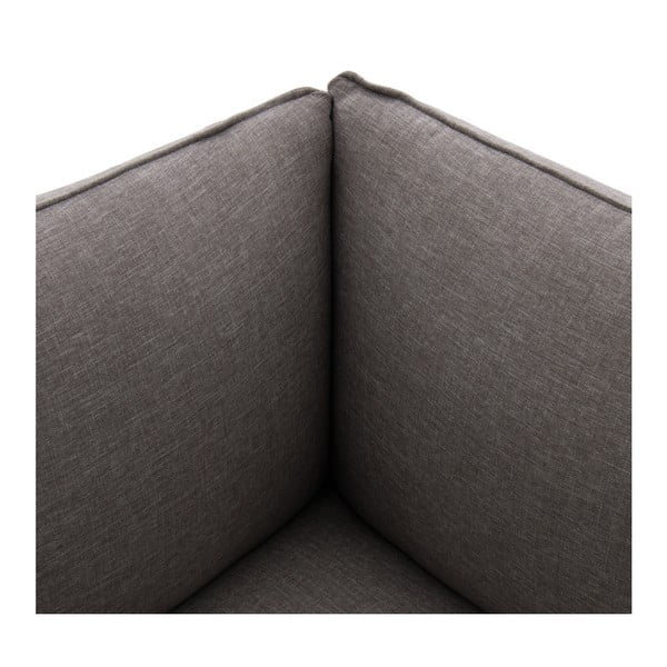 Sivá trojmiestna modulová pohovka Vivonita Cube
