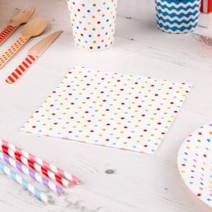Sada 20 papierových utierok Neviti Carnival Dots