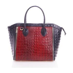 Kožená kabelka Marina, červená/čierna