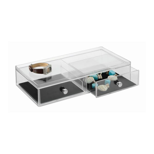 Transparentný organizér s 2 zásuvkami InterDesign Drawer