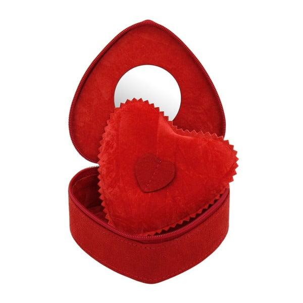 Šperkovnica Friedrich Lederwaren Heart Red, 10,5x9,5 x 4,5 cm
