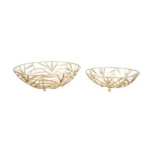 Sada 2 dekoratívnych misiek v zlatej farbe Mauro Ferretti Glam Couple