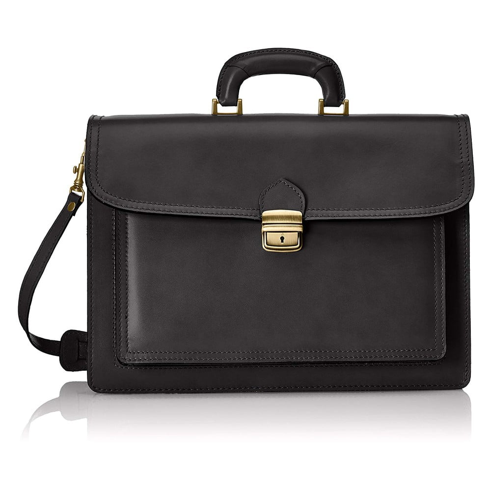 Čierna kožená taška Chicca Borse Karli