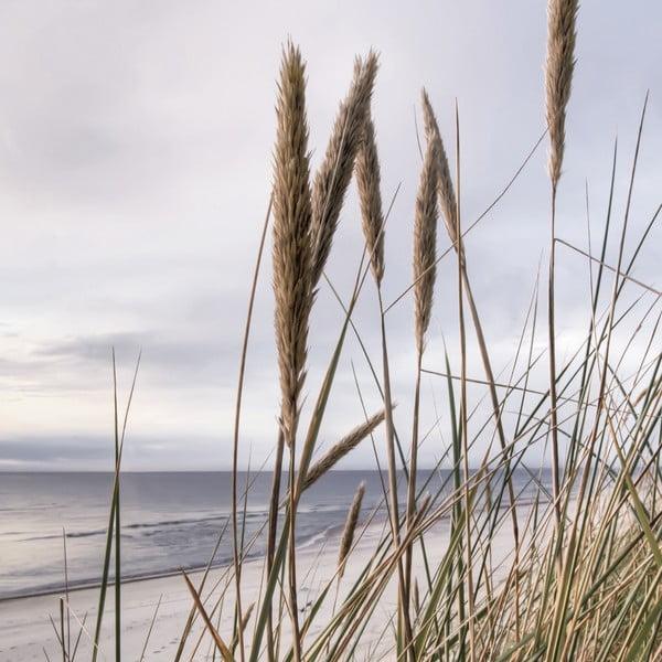 Sklenený obraz Seaside View, 20x20 cm