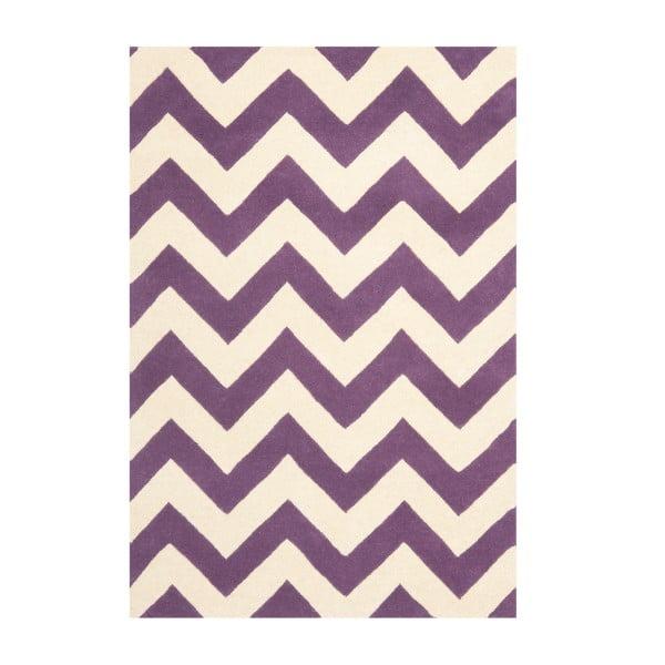 Vlnený koberec Crosby Purple, 121x182 cm