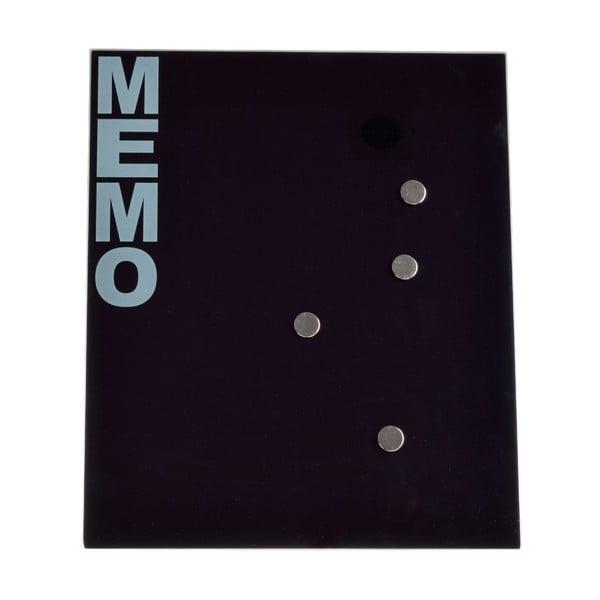 Sklenená magnetická nástenka Ewax Black Board, 35 x 42 cm