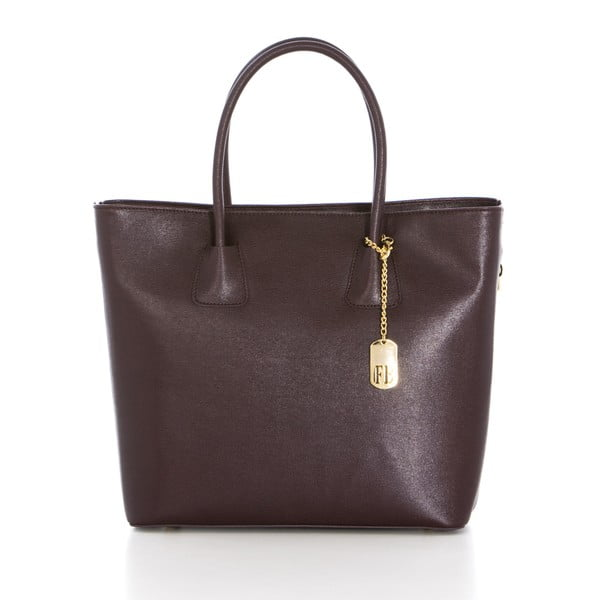 Kožená kabelka Saffiano Bordeaux