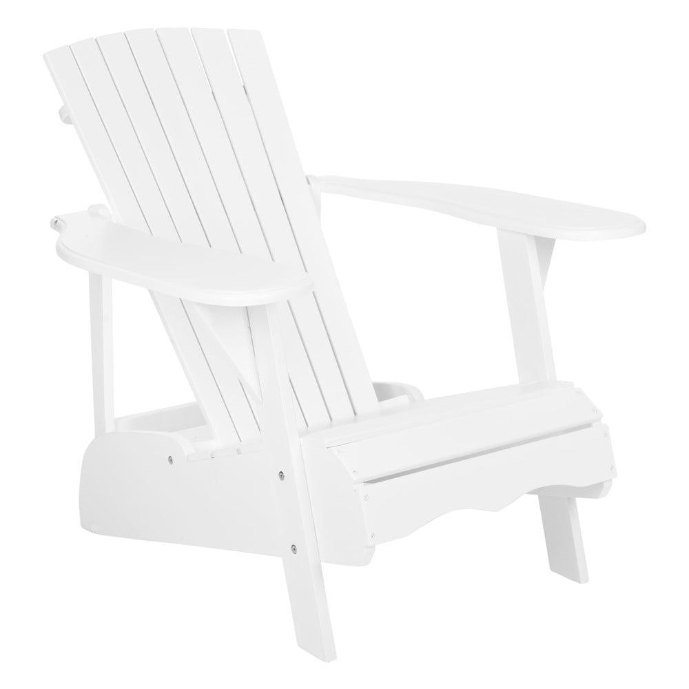 2a32f6b19e1ea Biele vonkajšie drevené kreslo Safavieh Maria