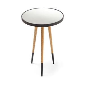 Čierno-biely odkladací stolík 360 Living Merald Schwarz Natural, Ø40,5cm