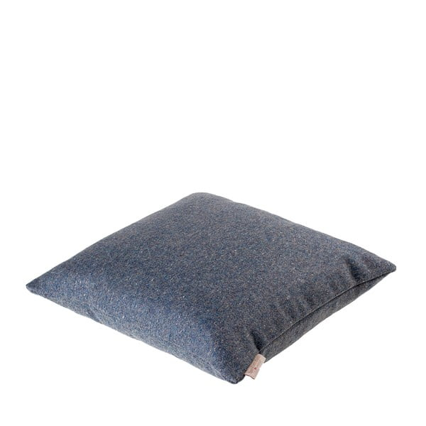 Vlnený vankúš Tweed 40x40 cm, modrý
